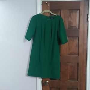 Dark green Tahari Arthur Levine 3/4 sleeve dress